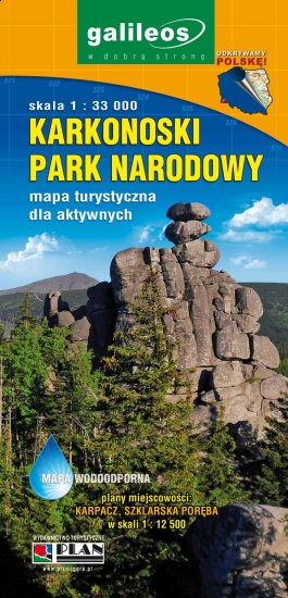 KARKONOSKI PARK NARODOWY - mapa turystyczna dla aktywnych 2016